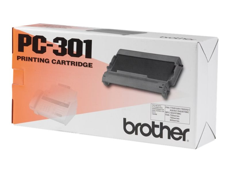 Brother PC301 - Schwarz - Original - Druckerpatrone - für Brother MFC-970MC; IntelliFAX 750, 770, 775, 775SI, 870MC, 875MC, 885MC