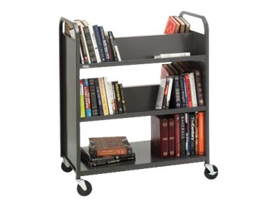 Bretford BASICS DURO Trolley 3 shelves gray mist