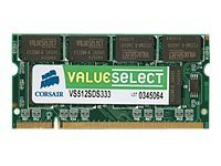 Corsair Value Select - DDR2 - 1 GB - SO DIMM 200-PIN - 667 MHz / PC2-5300 - ungepuffert