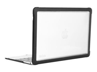 STM Dux Notebook top and rear cover 12INCH black for Apple MacBook (
