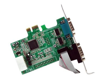 StarTech.com 2 Port Native PCI Express RS232 Serial Adapter Card with 16550 UART