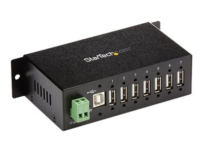 StarTech.com 7-Port Industrial USB 2.0 Hub with ESD & 350W Surge Protection - Mountable - Multiport Hub (ST7200USBM) - …