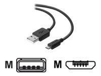 Belkin Charge/Sync Cable - USB-Kabel - USB (M) bis Micro-USB Type B (M) - 1.8 m