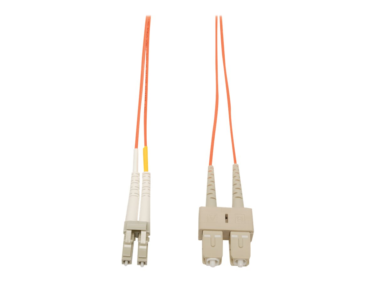 Tripp Lite 1M Duplex Multimode 50/125 Fiber Optic Patch Cable LC/SC 3' 3ft 1 Meter - patch cable - 1 m - orange