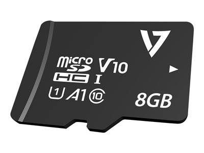 V7 VPMSDH8GC10 - flash memory card - 8 GB - microSDHC
