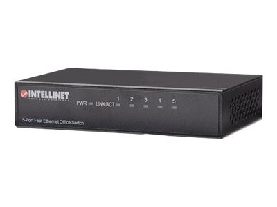Intellinet Fast Ethernet Office Switch - Switch - 5 x 10/100 - Desktop