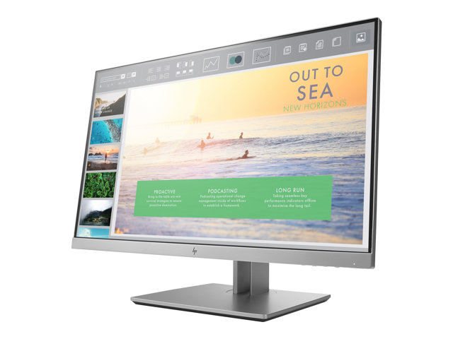 "HP EliteDisplay E233 - Écran LED - 23"" - 1920 x 1080 Full HD (1080p) - IPS - 250 cd/m² - 1000:1 - 5 ms - HDMI, VGA, DisplayPort"