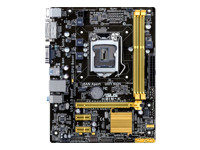 ASUS H81M-K - Motherboard - micro ATX - LGA1150 Socket - H81 - USB 3.0 - Gigabit LAN - onboard graphics (CPU required) - HD Audio (8-channel)