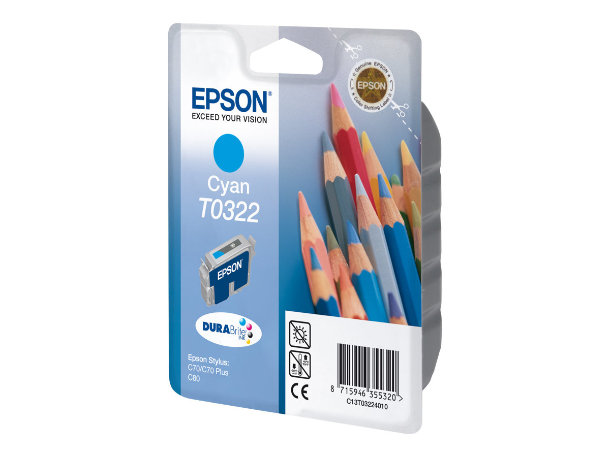 epson t0322 crayons cyan originale cartouche d 39 encre epson. Black Bedroom Furniture Sets. Home Design Ideas