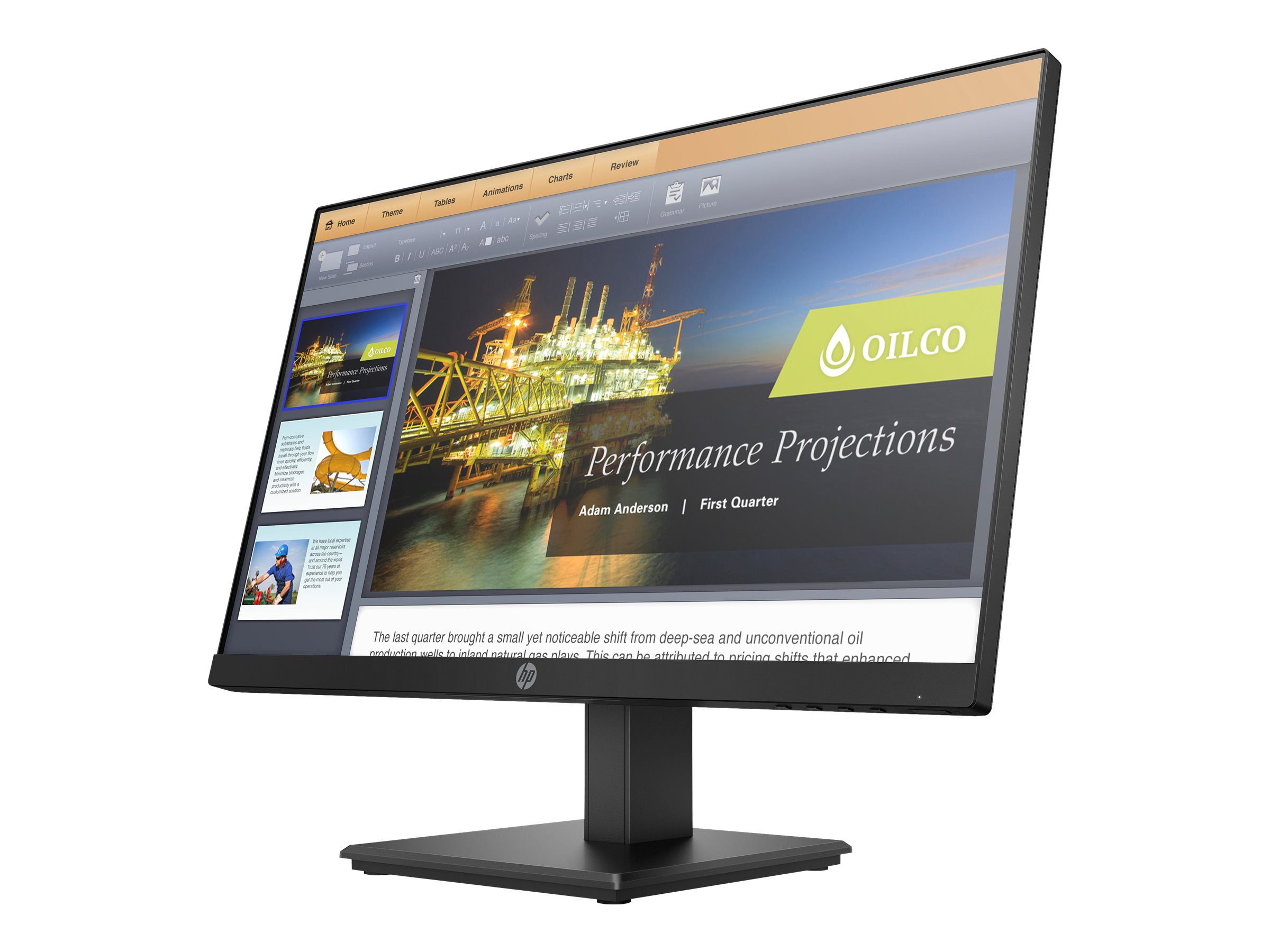 HP P224 - Head Only - LED monitor - Full HD (1080p) - 21.5""