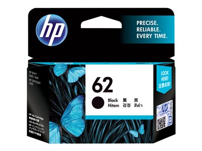 HP 62 - Black - original - ink cartridge - for Envy 55XX, 56XX, 76XX; Officejet 250, 57XX, 8040