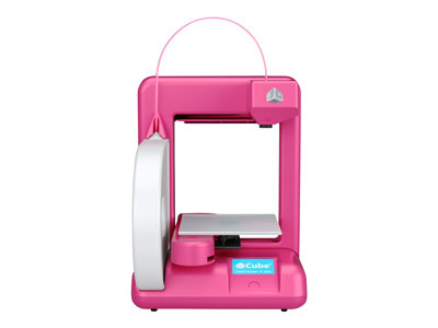 3D Systems Cube 2 - 3D printer - FDM - build size up to 140 x 140 x 140 mm - layer: 0.2 mm - Wi-Fi(n) - magenta