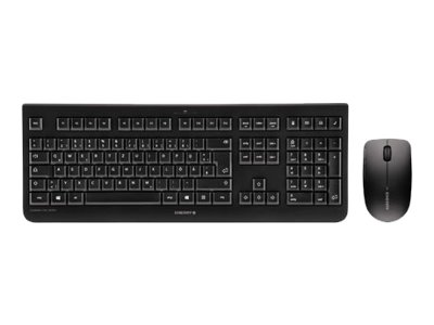 CHERRY DW 3000 - Keyboard and mouse set - wireless - 2.4 GHz - UK layout - black