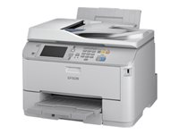 Epson WorkForce Pro WF-M5690DWF - Multifunction printer - B/W - ink-jet - Letter A (216 x 279 mm) (original) - A4/Legal (media) - up to 19 ppm (copying) - up to 34 ppm (printing) - 330 sheets - 33.6 Kbps - USB 2.0, Gigabit LAN, Wi-Fi(n), USB host