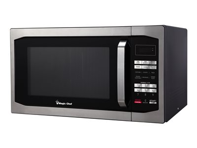 Magic Chef MCM1611ST - Microwave oven - freestanding - 1.6 cu. ft - stainless