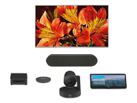 """Picture of Logitech Tap for Zoom Medium Rooms - video conferencing kit - with 75"""" Sony BRAVIA Display, Intel NU"""