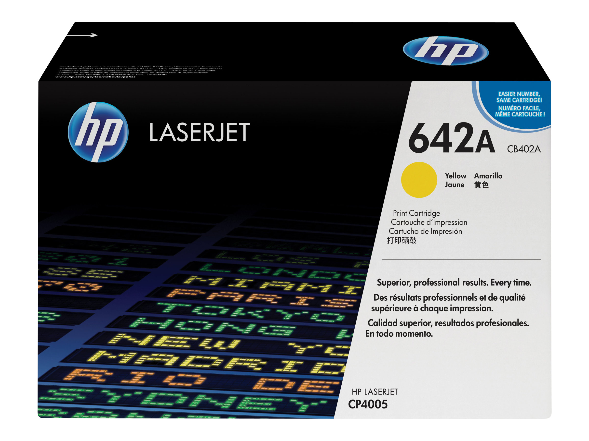 HP 642A - yellow - original - LaserJet - toner cartridge (CB402A)