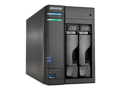 ASUSTOR AS6202T - NAS-Server - 2 Schächte - SATA 6Gb/s / eSATA 6Gb/s - RAID 0, 1, JBOD - Gigabit Ethernet