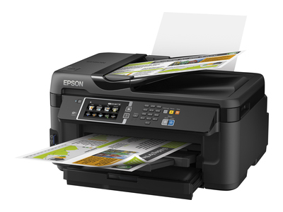 Epson WorkForce WF-7610DWF - Multifunction printer - colour - ink-jet - A3 (media) - up to 18 ppm (printing) - 250 sheets - LAN, Wi-Fi(n), USB host