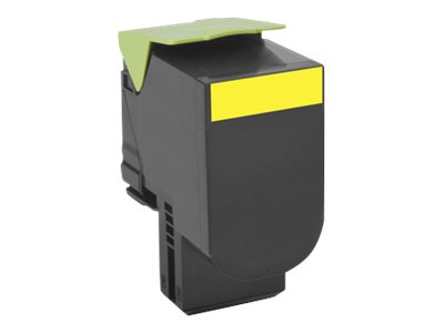 Lexmark 700X4 - Extra High Yield - yellow - original - toner cartridge - LCCP