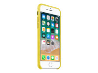Apple - Back cover for mobile phone - leather - spring yellow - for iPhone 7, 8