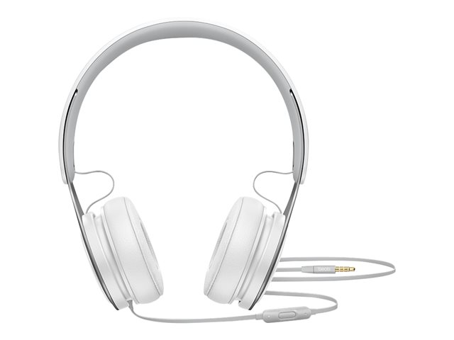 Beats EP - Casque avec micro - sur-oreille - filaire - jack 3,5mm - isolation acoustique - blanc - pour 10.5-inch iPad Pro; 12.9-inch iPad Pro; 9.7-inch iPad; 9.7-inch iPad Pro; iPad; iPad 1; 2; iPad Air; iPad Air 2; iPad mini; iPad mini 2; 3; 4; iPad with Retina display; iPhone 3G, 3GS, 4, 4S, 5, 5c, 5s, 6, 6 Plus, 6s, 6s Plus, SE; iPod classic; iPod nano; iPod shuffle (4G); iPod touch