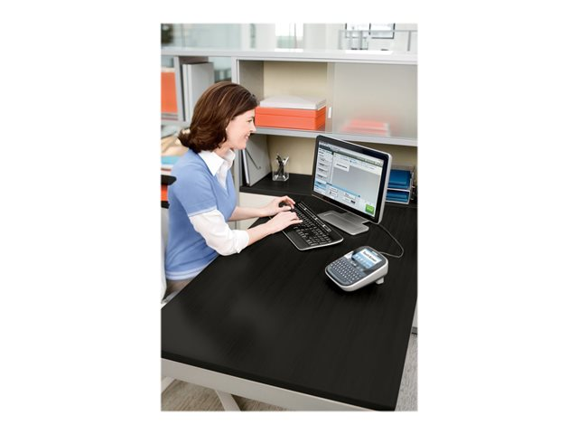 DYMO LabelMANAGER 500TS - Labelmaker - B/W - thermal transfer - Roll (2.4 cm) - 300 dpi - up to 20 mm/sec - USB - cutter - 8 line printing - black, silver