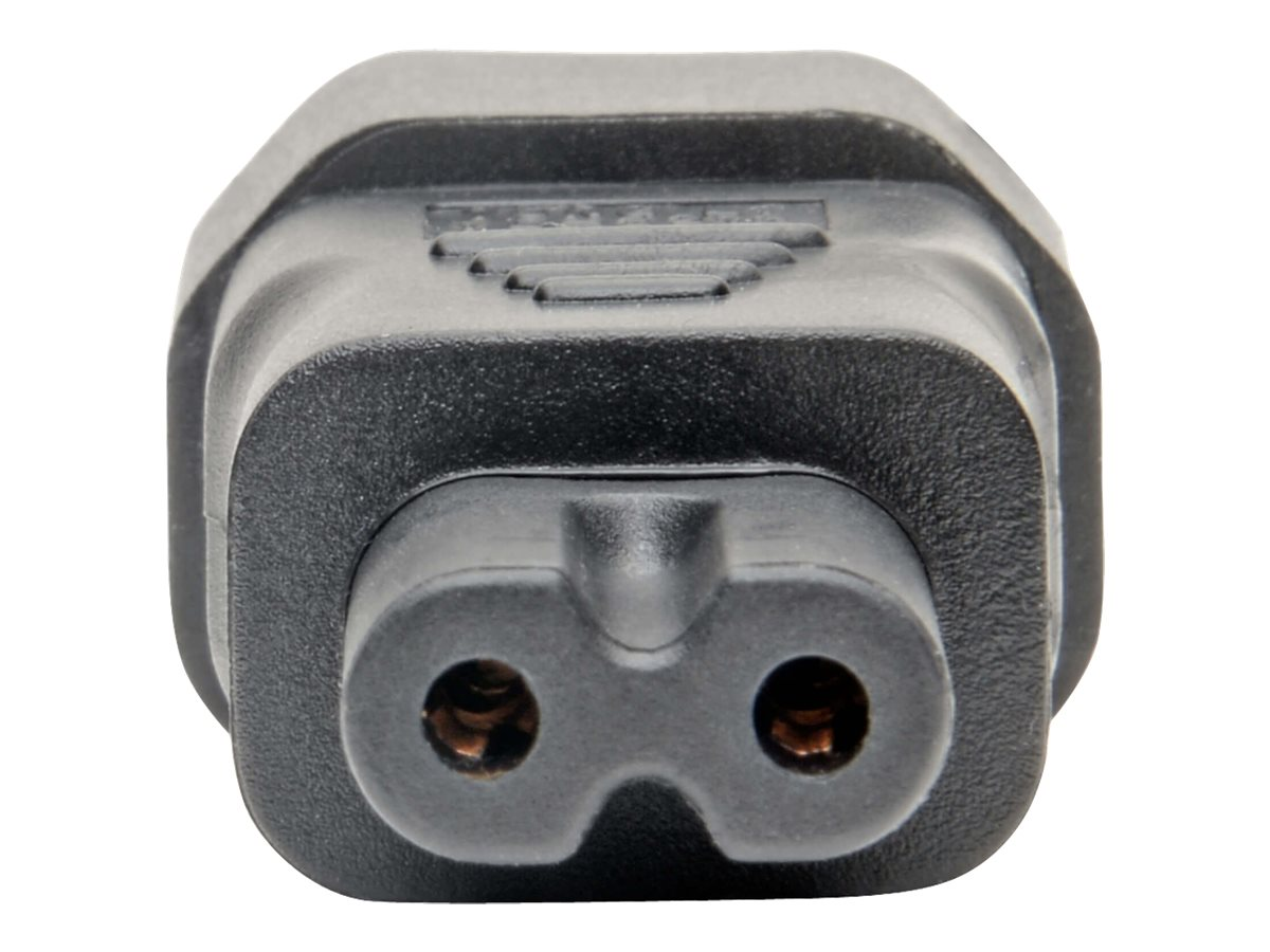 Tripp Lite IEC C14 to IEC C5 Power Cord Adapter - 10A, 250V, Black - power connector adapter