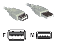 2M USB 2 High Speed Extension Cable A Male to A Female (Black)