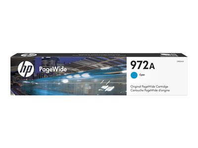 HP 972A 37 ml cyan original PageWide ink cartridge