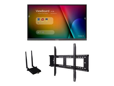 """ViewSonic ViewBoard IFP8650-E1 Interactive Flat Panel Education Bundle with Wall Mount 86"""" Class (86"""" viewable) LED-backlit LCD display - 4K"""