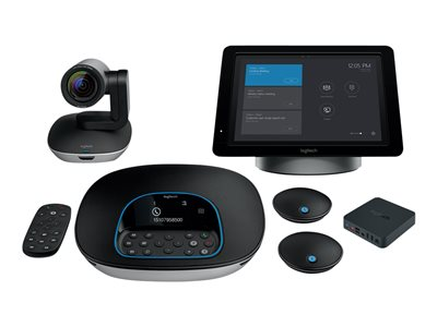 e556dc4935b Logitech SmartDock Large Skype Room System - video conferencing kit - with  SmartDock Extender Box, Surface Pro (i5, 128GB, 4GB), Logitech Group +  Expansion ...
