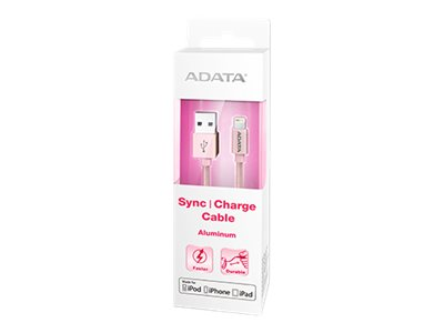 ADATA - Lightning-Kabel - USB (M) bis Lightning (M) - 1 m - Rose Gold - für Apple iPad/iPhone/iPod (Lightning)