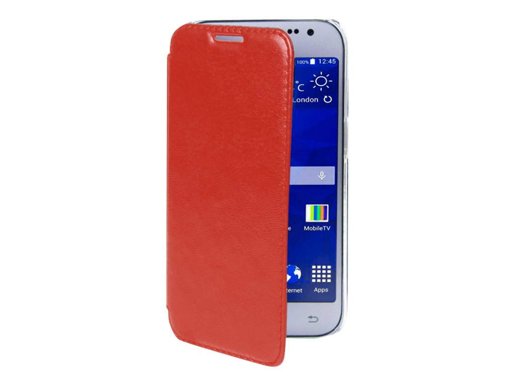 Muvit Made in Paris Crystal Folio Luxe - Protection à rabat pour Samsung Galaxy Grand Plus - rouge