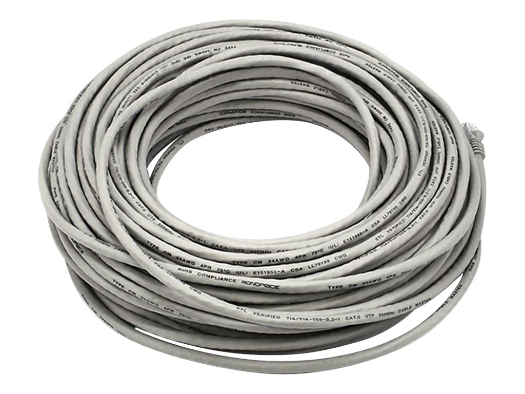 Monoprice patch cable - 30.5 m - gray