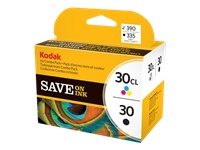Kodak Ink Combo Pack - 2-pack - black, colour (cyan, magenta, yellow) - original - ink cartridge - for ESP 1.2, C110, C310, Office 2170; HERO 5.1