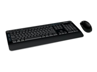 Microsoft Wireless Desktop 3050 - Keyboard and mouse set - wireless - 2.4 GHz - English - United Kingdom