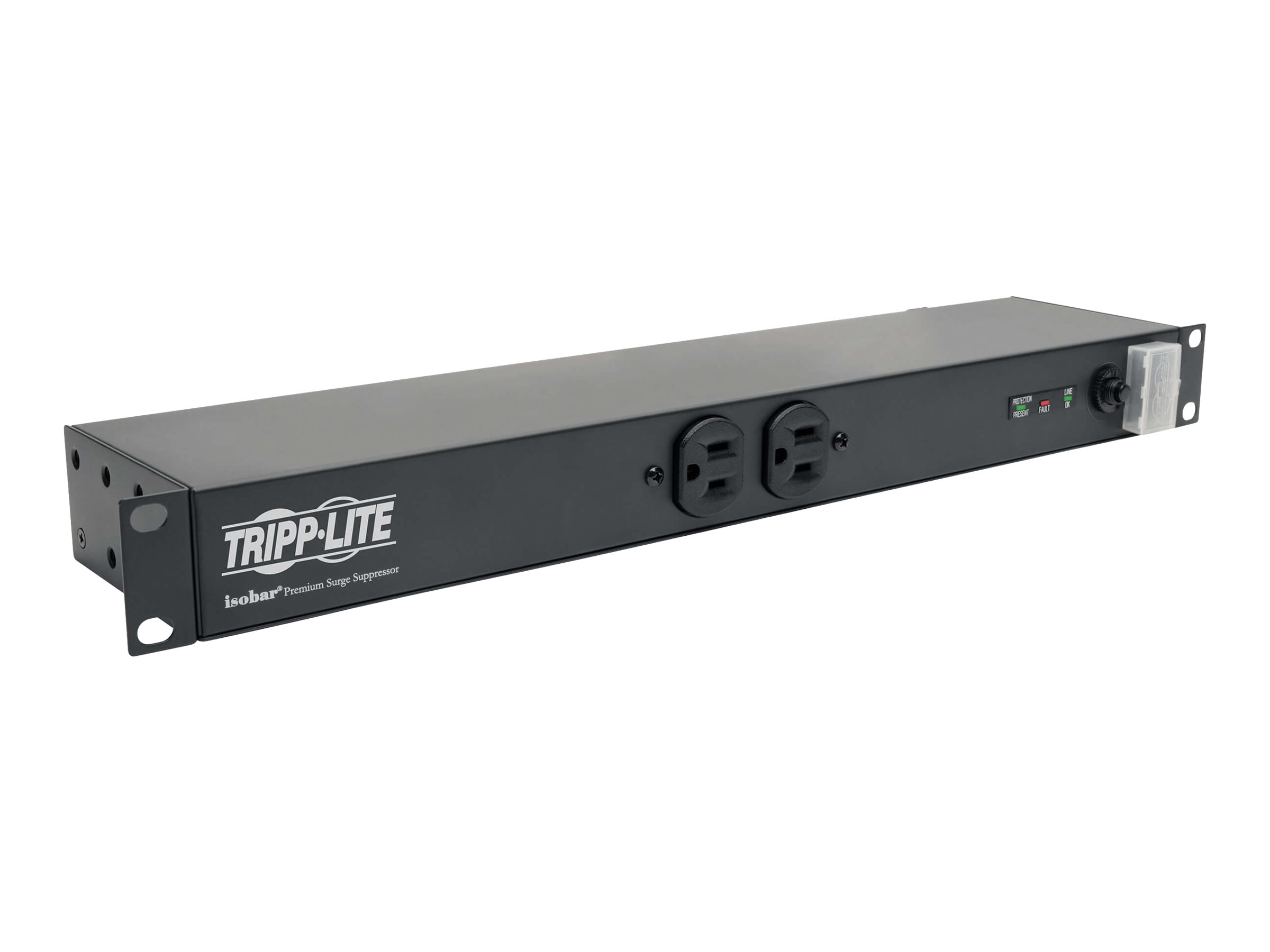 Tripp Lite Isobar Surge Protector Rackmount 12 Outlet 15' Cord Metal 1URM - surge protector