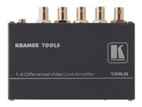Kramer 104LN 1:4 Differential Video Line Amplifier Video splitter 4 x composite video / SDI