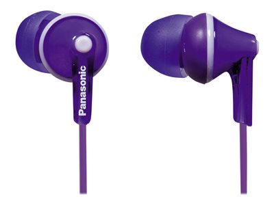 Panasonic RP-HJE125 Ergofit earphones in-ear wired 3.5 mm jack violet
