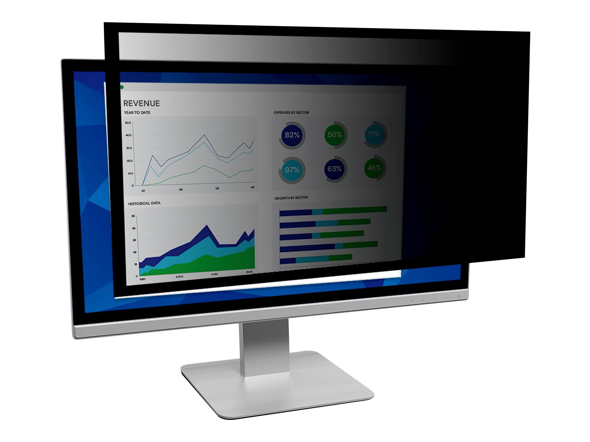 """3M Framed Privacy Filter for 19"""" Widescreen Monitor (16:10) - display privacy filter - 19"""" wide"""