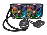 Thermaltake Water 3.0 Riing RGB 240 - Processor liquid cooling system - (for: LGA1156, AM2, AM2+, LGA1366, AM3, LGA1155, AM3+, LGA2011, FM1, FM2, LGA1150, LGA2011-3, LGA1151, FM3)