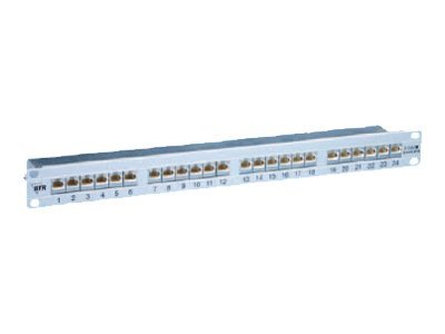 BTR IT CONNECT E-DAT C6 24x8(8) Cat.6 - Patch Panel - Silber - 1U - 48.3 cm (19