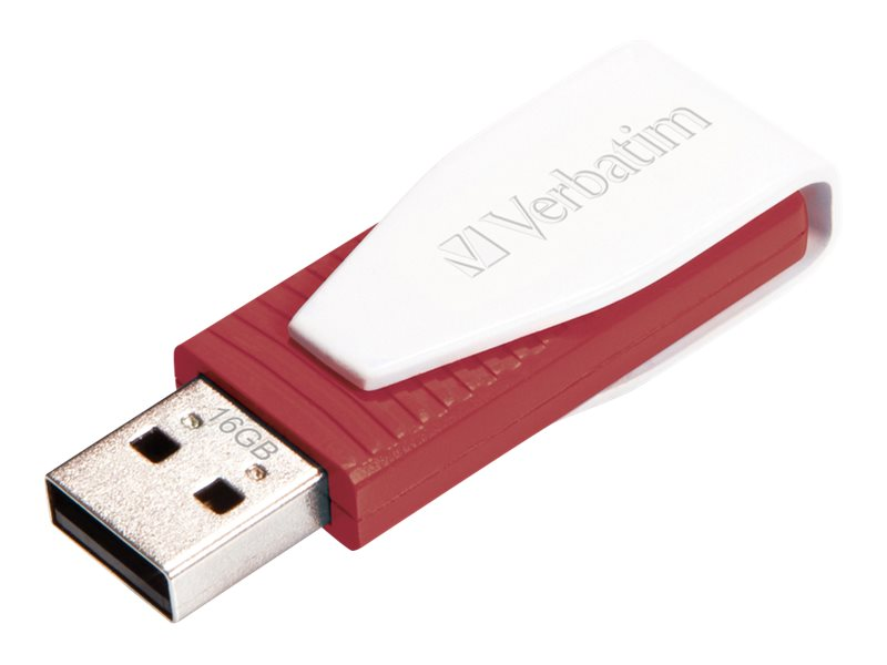 Verbatim Store n Go Swivel - USB-Flash-Laufwerk - 16 GB - USB 2.0 - Rot