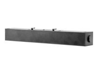HP S100 - Sound bar - for monitor - for HP Z22n G2, Z23n G2, Z24, Z24i G2, Z24n G2, Z24nf G2, Z27n G2; EliteDisplay E243, E273