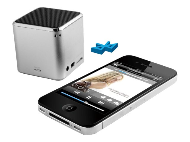 Technaxx MusicMan Mini Wireless Soundstation BT-X2 - Lautsprecher - tragbar - drahtlos - Bluetooth - Silber
