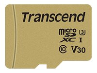 Transcend 500S - Carte mémoire flash - 8 Go - Video Class V30 / UHS-I U3 / Class10