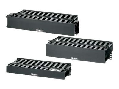 """Panduit PatchLink Horizontal Cable Manager - rack cable management panel cover - 2U - 19"""""""