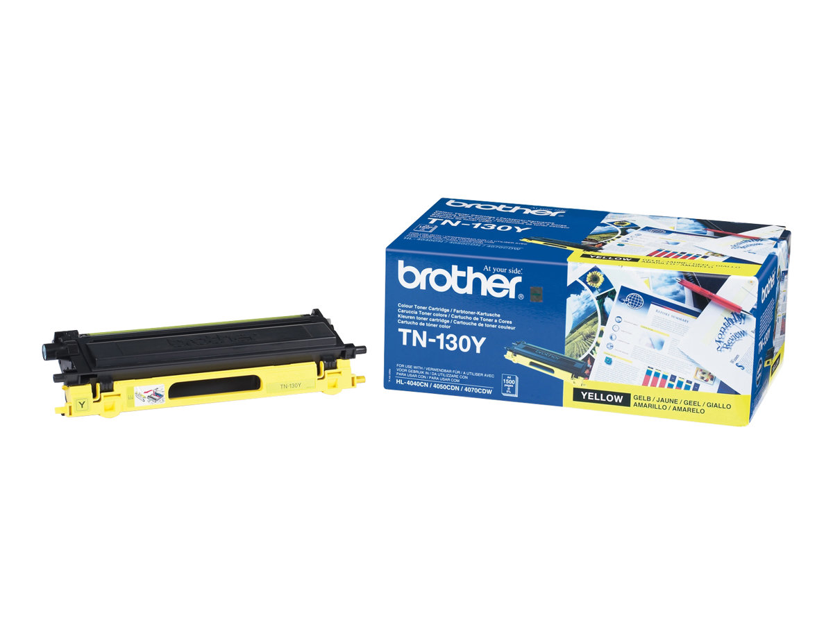 Brother TN130Y - Gelb - Original - Tonerpatrone - für Brother DCP-9040, 9042, 9045, HL-4040, 4050, 4070, MFC-9440, 9450, 9840