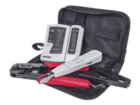 Intellinet 4-Piece Network Tool Kit, 4 Tool Network Kit Composed of LAN Tester, LSA punch down tool, Crimping Tool and Cut and Stripping tool - ...